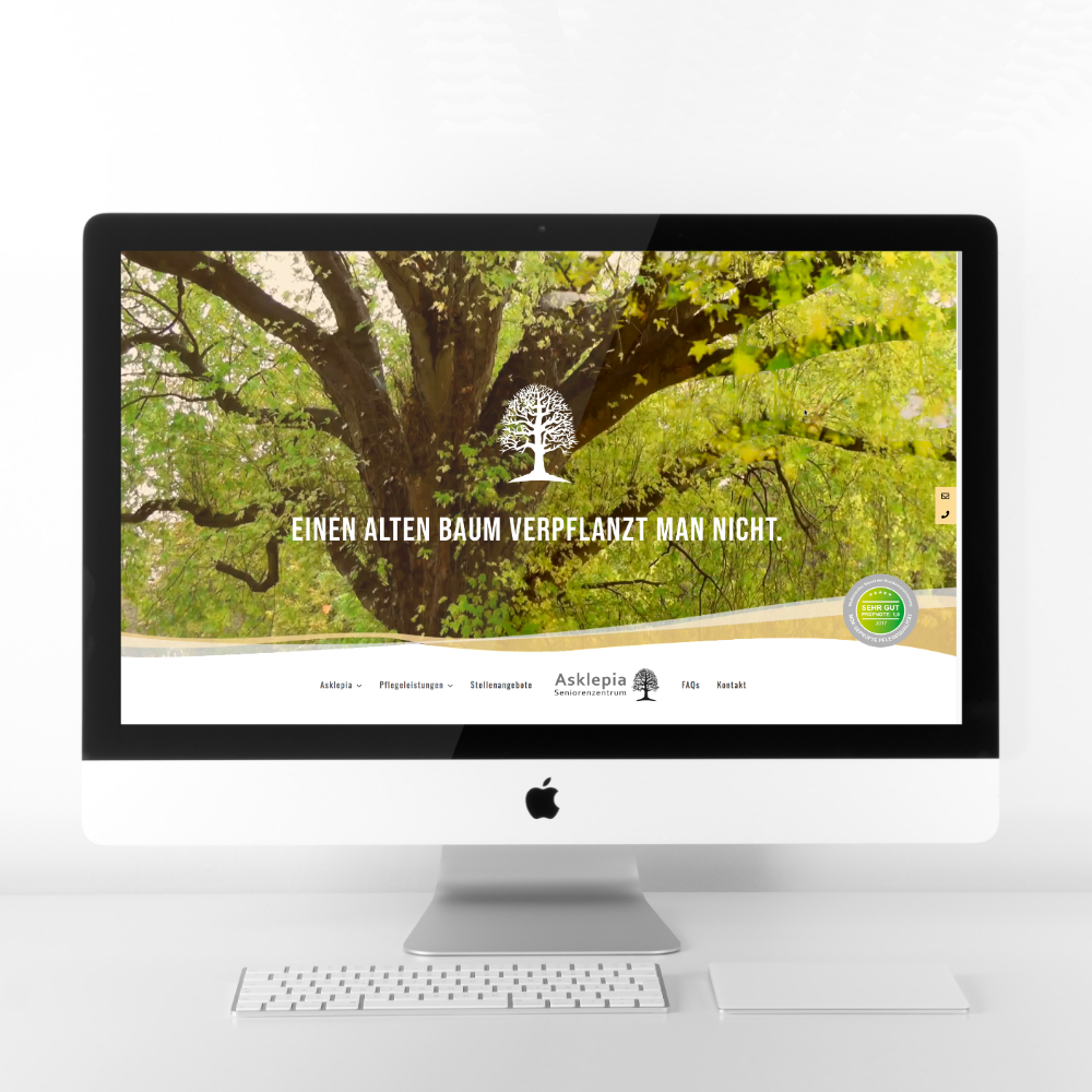 Internetseite Webdesign Asklepia