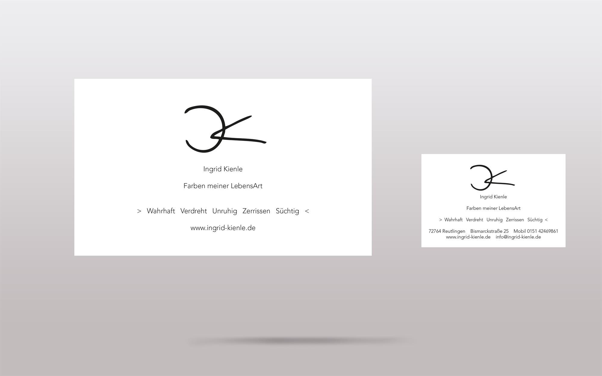 Ingrid Kienle - Start-Up - Internetseite