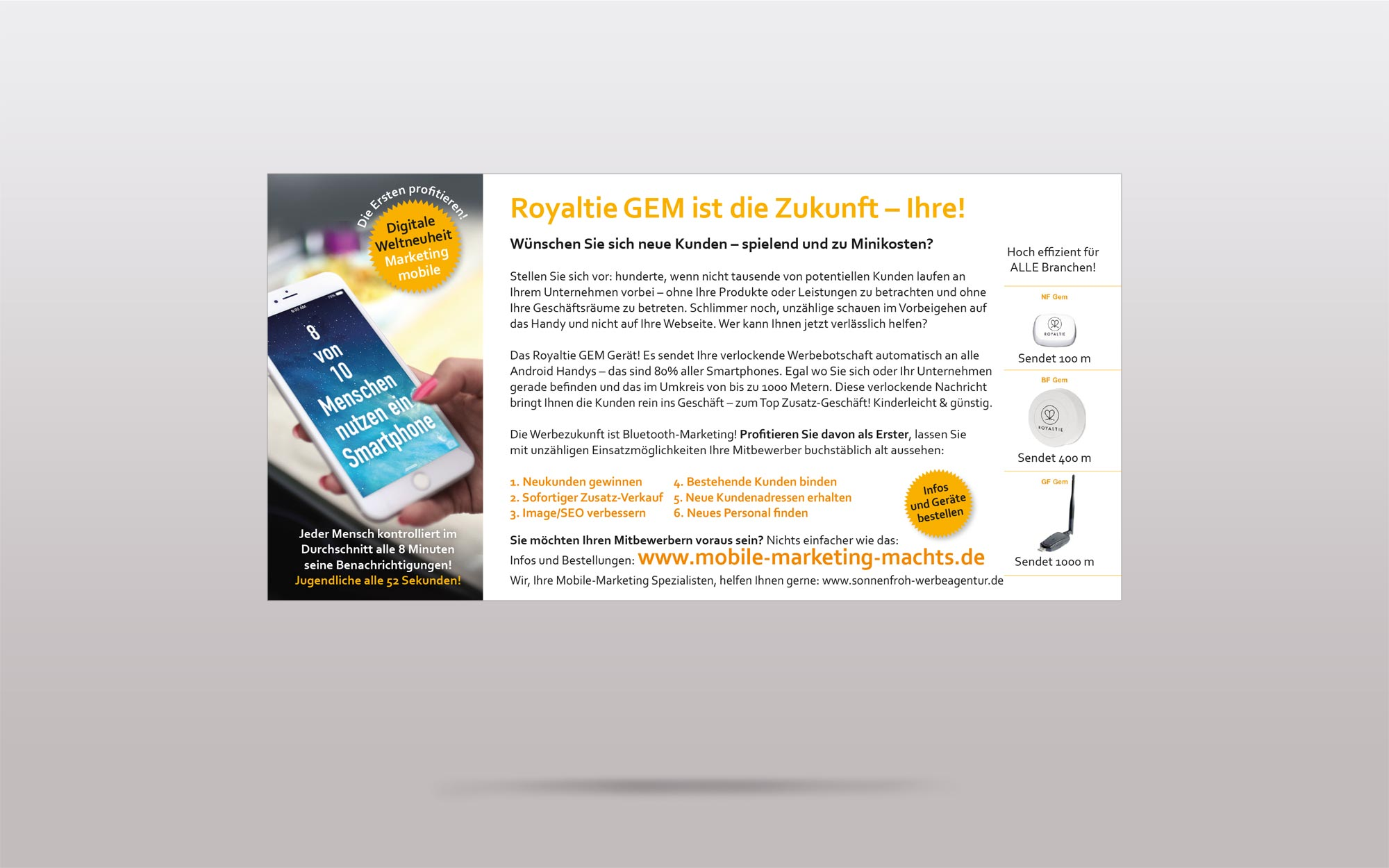 Portfolio Print Royaltie - digitales und mobiles Marketing