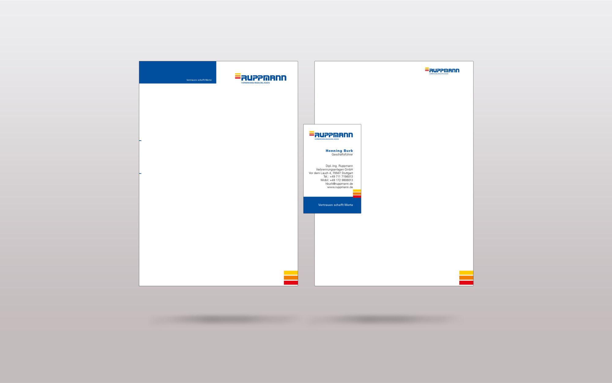 Relaunch Unternehmen Ruppmann - Geschäftsausstattung