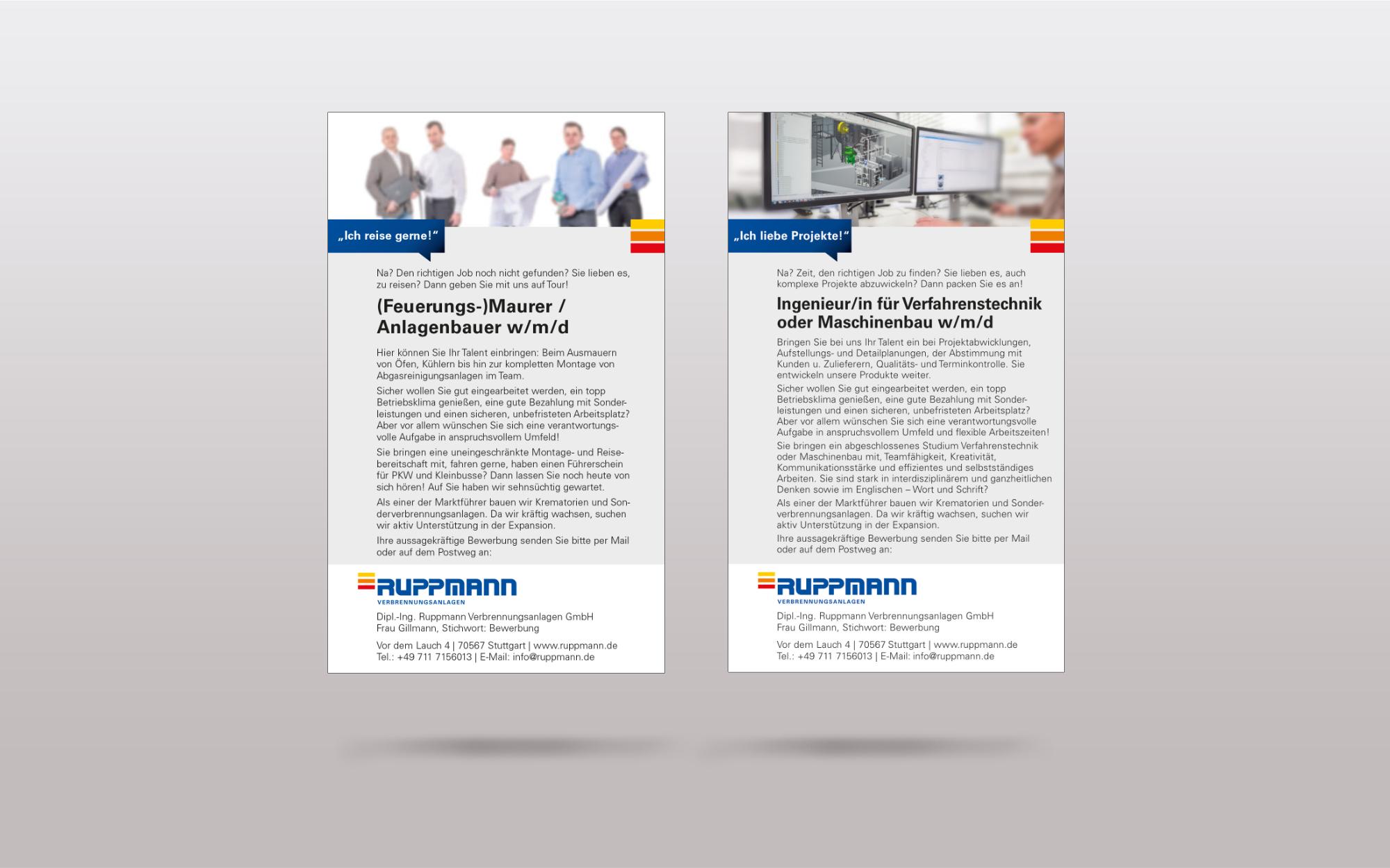 Relaunch Unternehmen Ruppmann - Anzeige