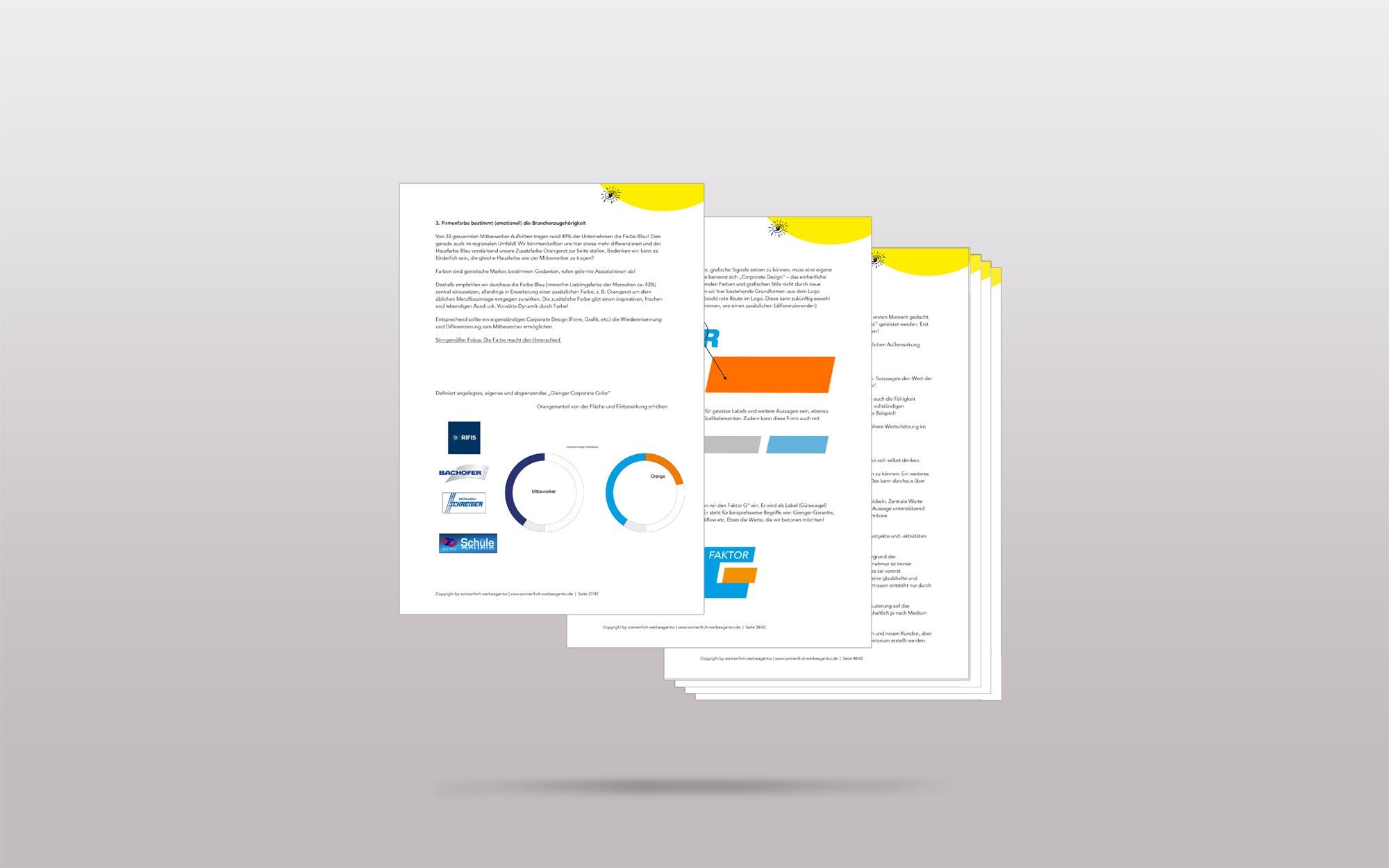 Portfolio Gienger Metallbau - Webdesign