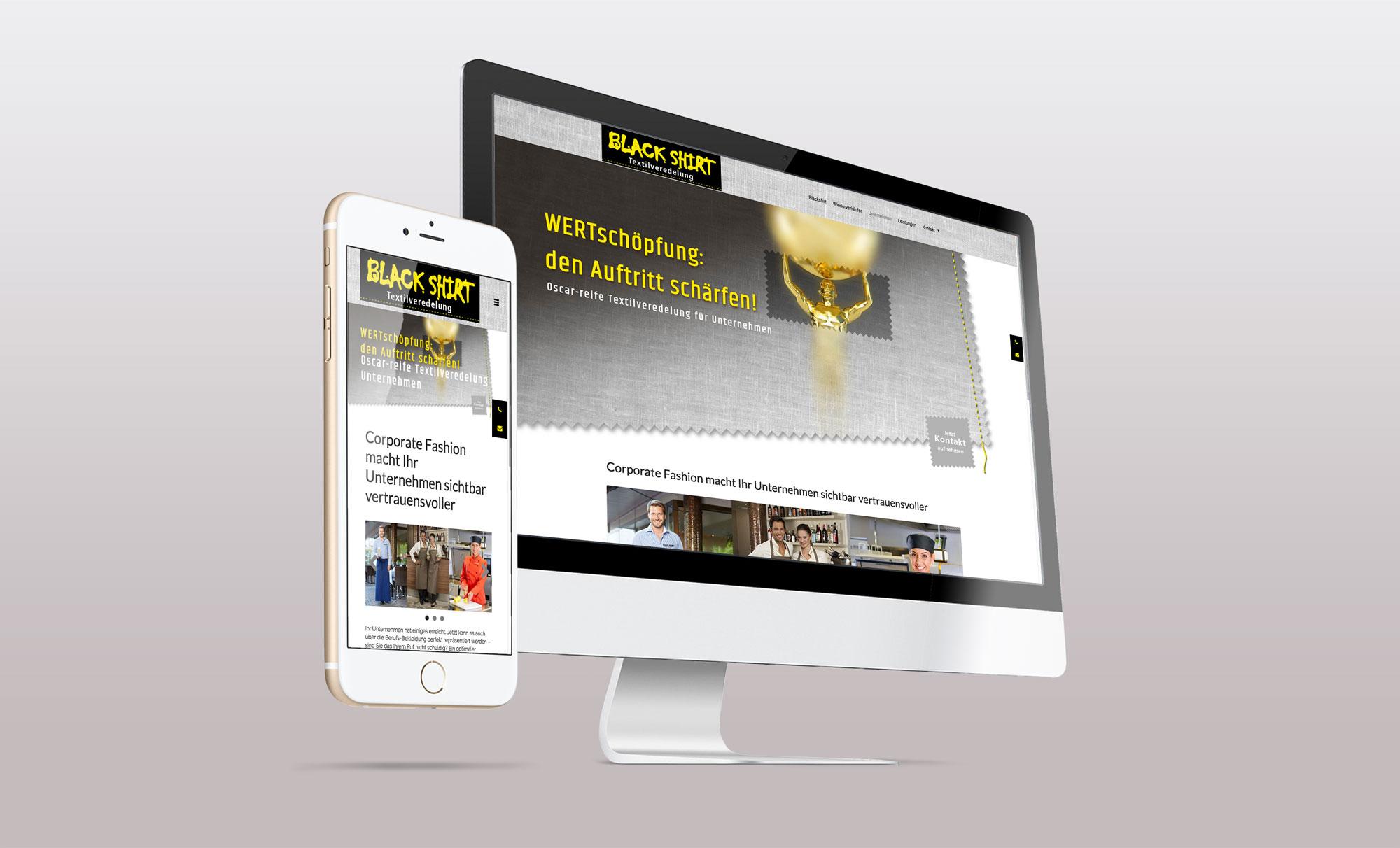 BlackShirt Relaunch Webdesign