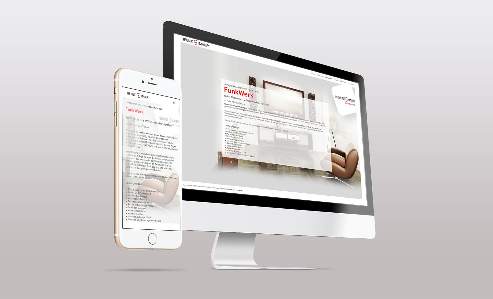 Portfolio Webdesign für Hennig Maier Elektrotechnik