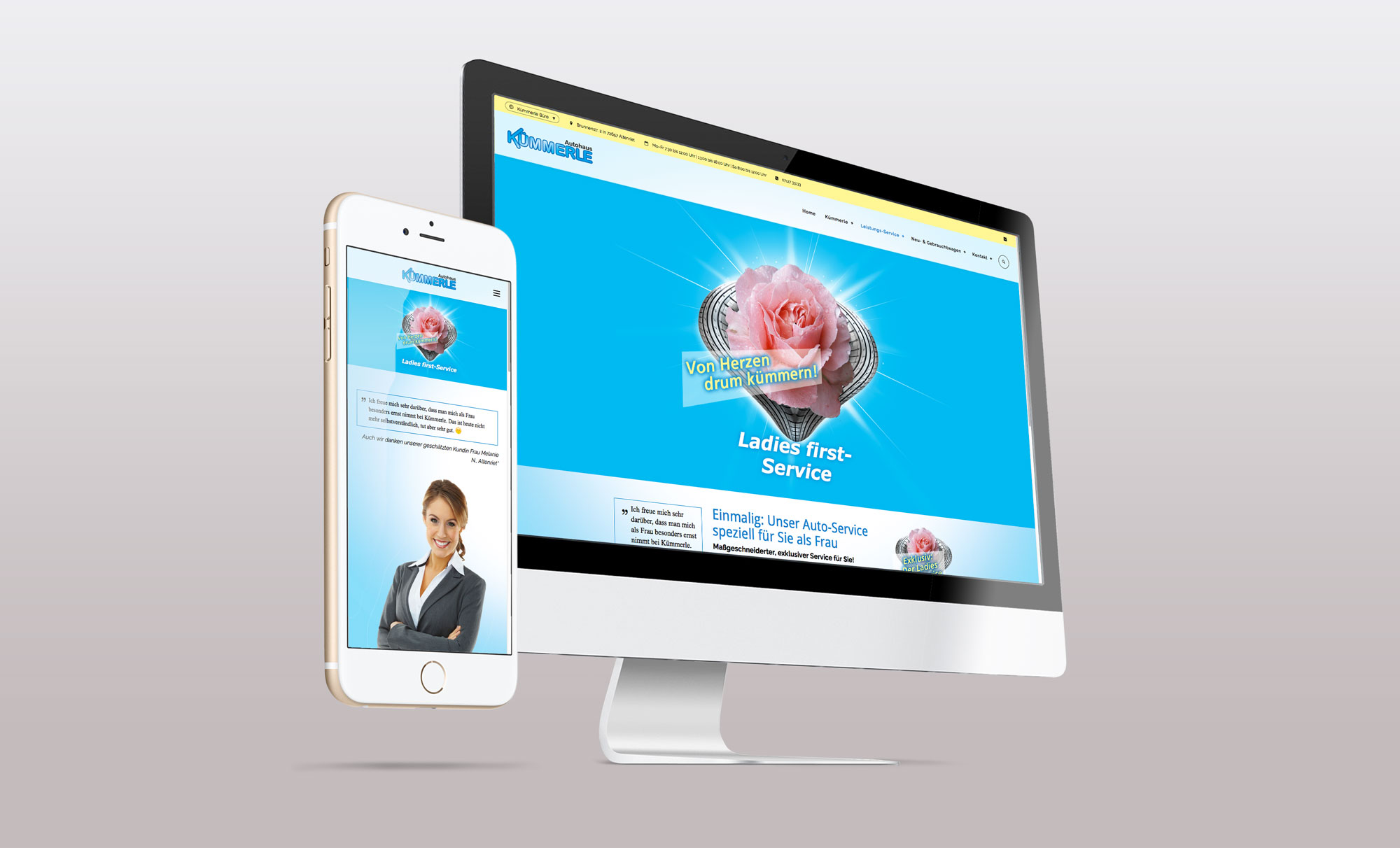 Webseite Corporate Design Kümmerles