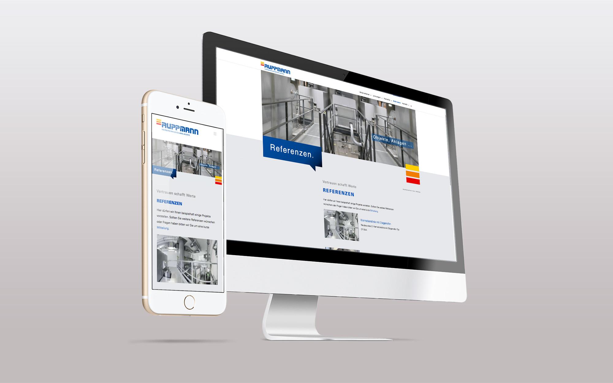 Relaunch Unternehmen Ruppmann - Webdesign