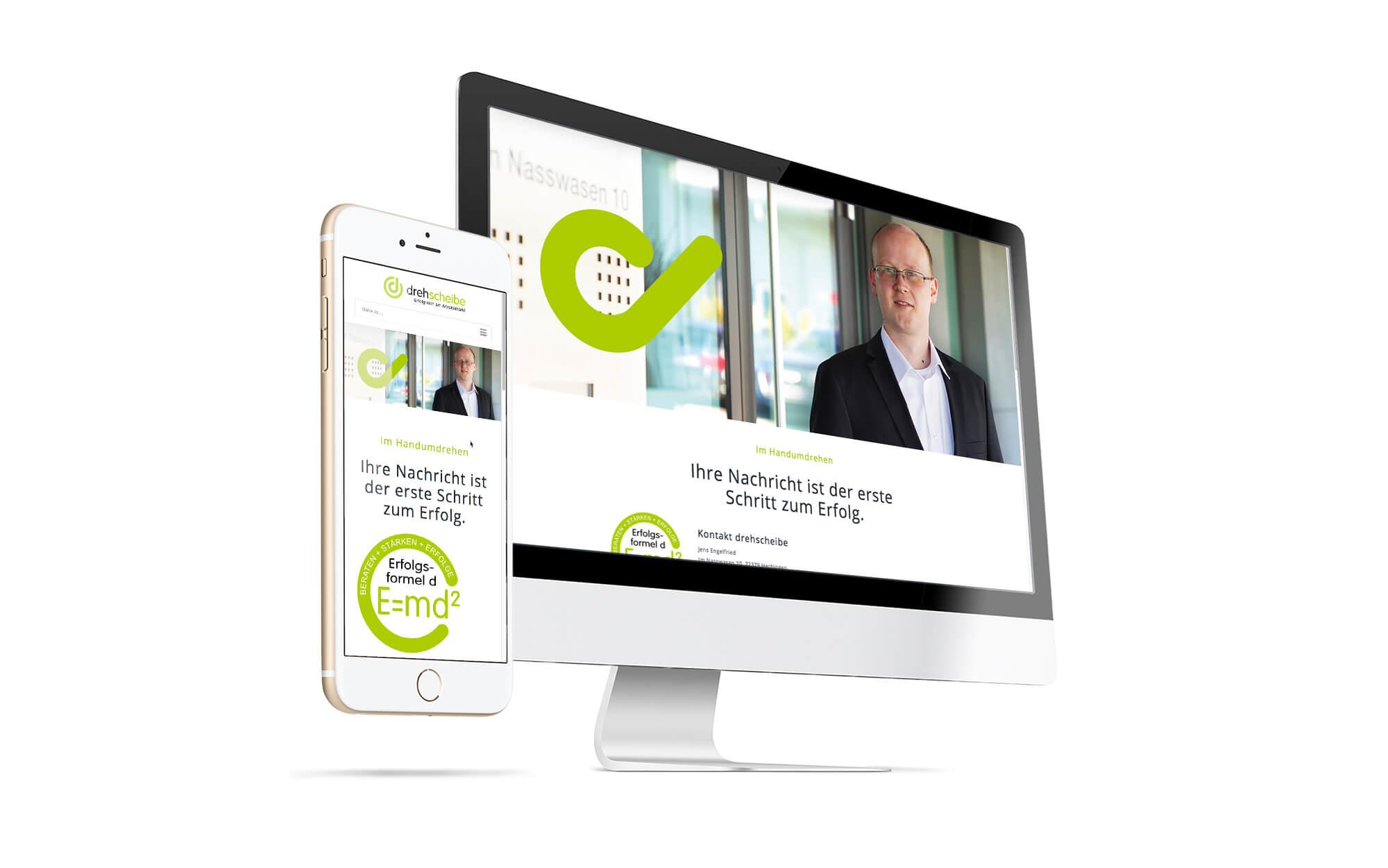 Konzept USP und Marketingstrategie und Webseite für drehscheibe Outplacement