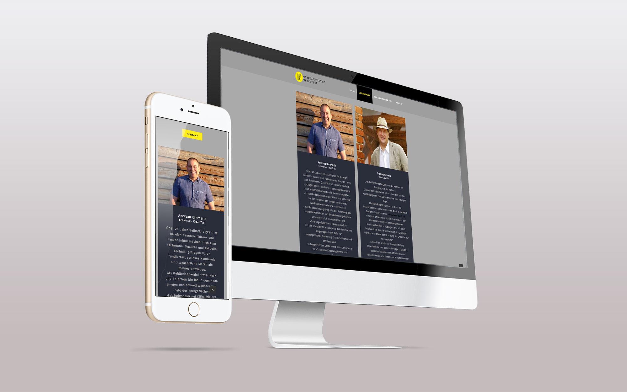 Webdesign - Energieberater Werkstatt